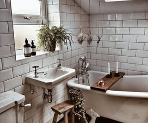 bathroom, boho, and decor image
