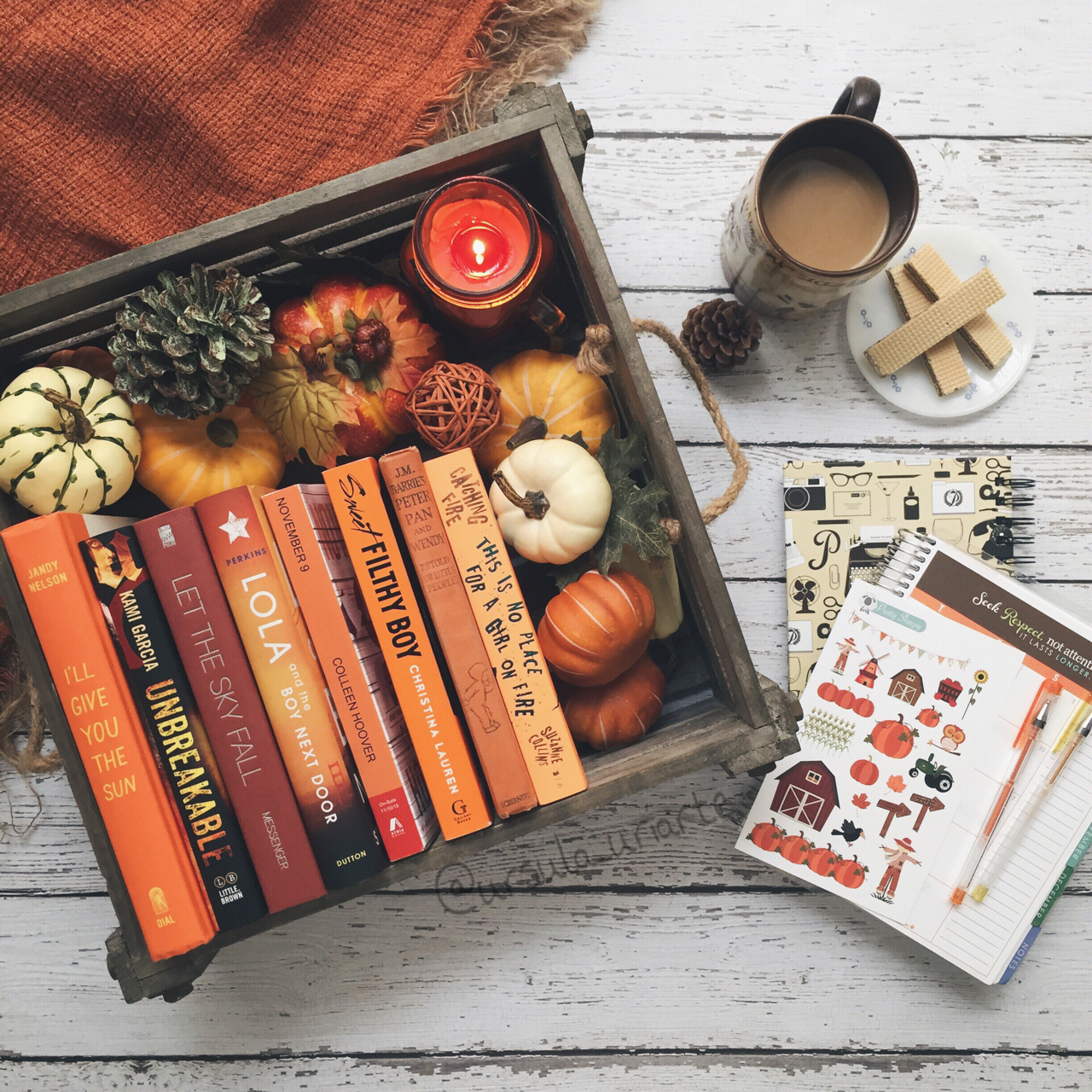 aesthetics, autumn, and book image