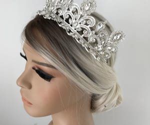 tiaras, silver crown, and bridal accessories image