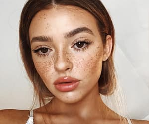 freckles, pretty, and beauty image