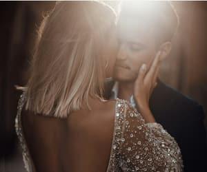 couple, hug, and wedding image