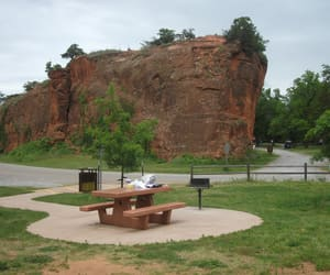 oklahoma, state park, and rock wall image