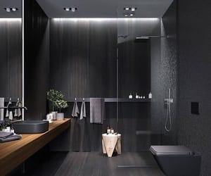 home, bathroom, and black image