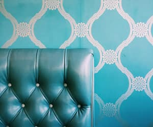 blue, teal, and booth image