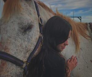 girl, horse, and mane image