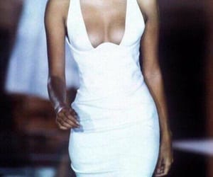 dress, white, and 90s image