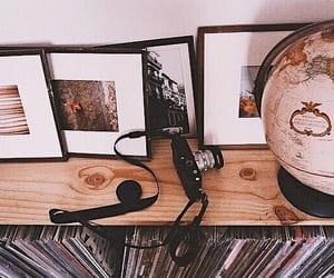 camera, globe, and photography image