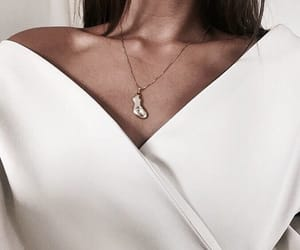 fashion, necklace, and white image