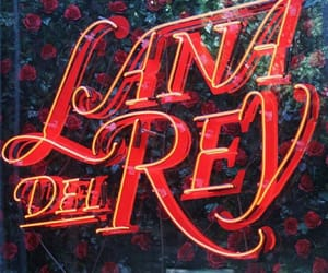 lana del rey, neon, and red image