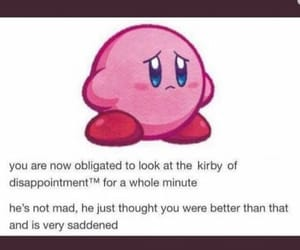 disappointed, kirby, and meme image