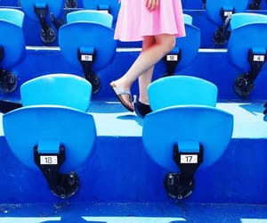 blue, seating, and seats image