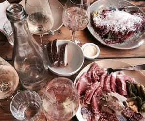drinks, food, and meat image