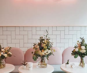 coffee, flowers, and decor image