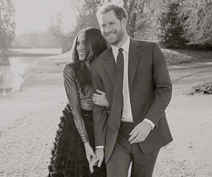 prince harry, couple, and meghan markle image