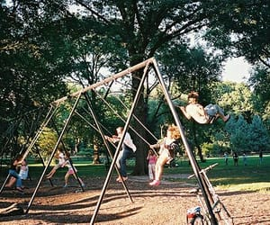 swing, kids, and park image