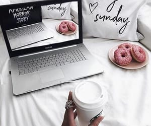blogger, coffee, and donuts image