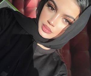 girl, hijab, and makeup image