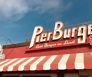 burger, santa monica pier, and funfair image