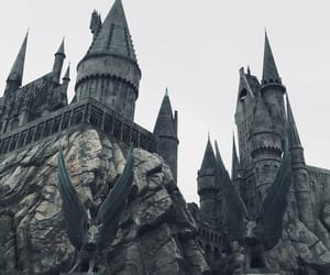 castle, hogwarts, and magic image