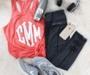 gym, sporty, and workout image