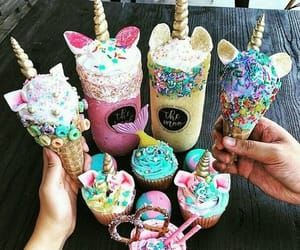 unicorn, sweet, and food image