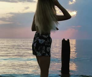 beach, blonde, and vibes image