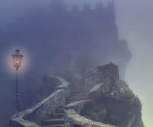 castle, fog, and dark image