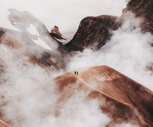 clouds, rocks, and traveling image