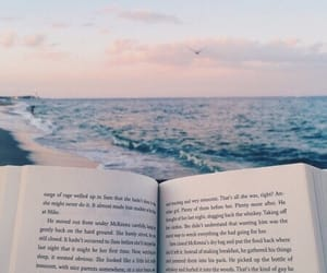 beach, blue, and book image