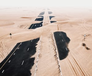 sand, desert, and road image