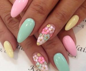 makeup, nailart, and cute nails image