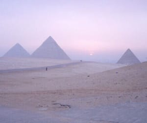 pyramid, egypt, and purple image