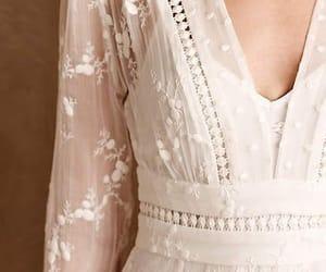 beautiful, dress, and white image