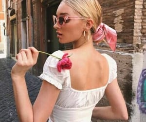 elsa hosk, model, and sunglasses image
