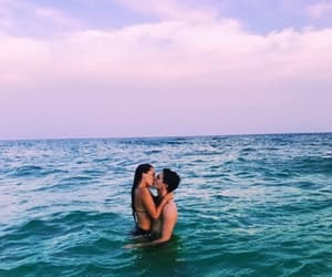 couple, ocean, and sea image
