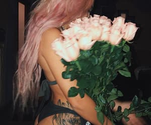 flowers, tattoo, and rose image