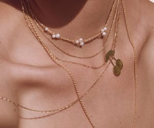 necklace, gold, and aesthetic image