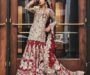 indian, red, and bridal dress image