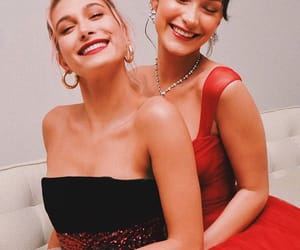 hailey baldwin, bella hadid, and model image