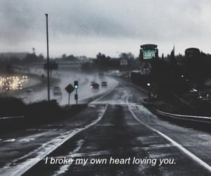 city, dark, and heart image