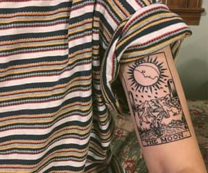 tattoo, grunge, and moon image