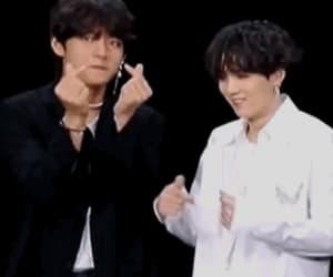 gif, yoongi, and taehyung image