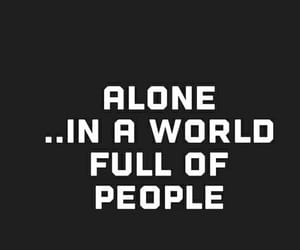 alone, sad, and people image