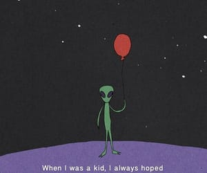 alien, balloons, and quotes image