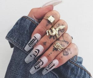 baby, rings, and clear nails image