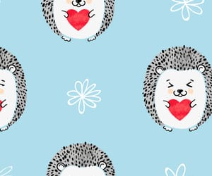 hedgehog, heart, and wallpaper image