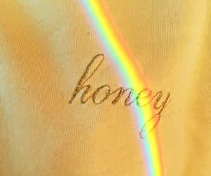 aesthetic, yellow, and rainbow image