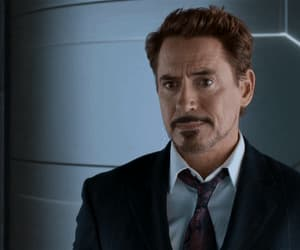 gif, robert downey jr, and iron man image