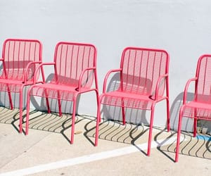 pink, chair, and pastel image