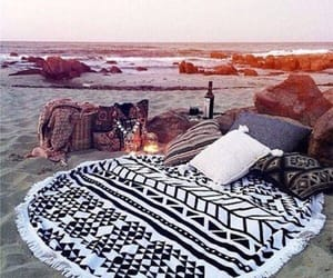 beach, cozy, and ocean image